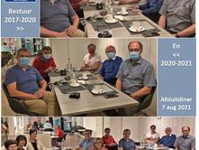Afsluitdiner van het bestuur 2017-2021