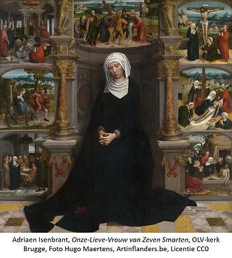 Adriaen Isenbrant, OLV van 7 Smarten, OLV-kerk Brugge, CC0, ArtinFlanders detail txt.jpg
