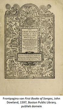 John Dowland front First Booke of Songes