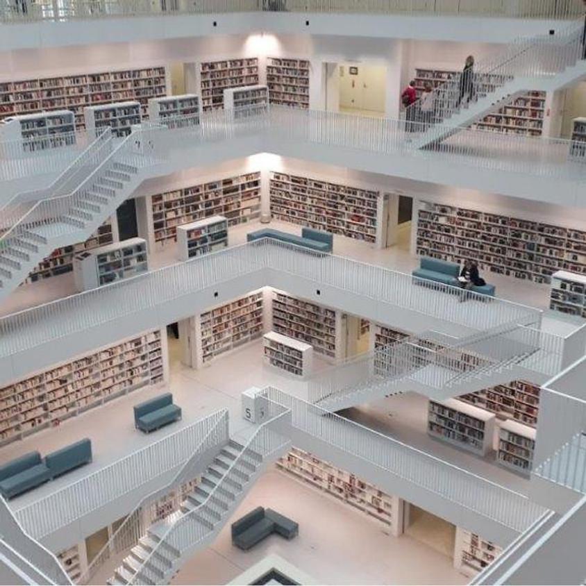 vrij 12 feb 2021, ZOOM-vergadering, lezing van Jan Van Daele over 'Nieuwe bibliotheekgebouwen'