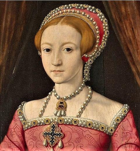 William Scrots Elisabeth I ca 1546 detai