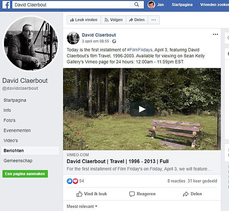 21 april 2020 - David Claerbout