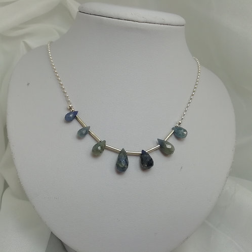 Sapphire & Silver Necklace