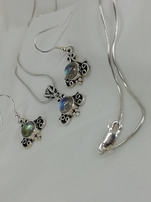 Labradorite Cabochon Earrings