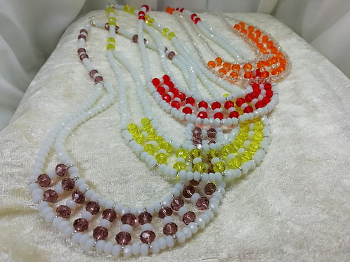 Handmade Summer fun with crystal necklaces