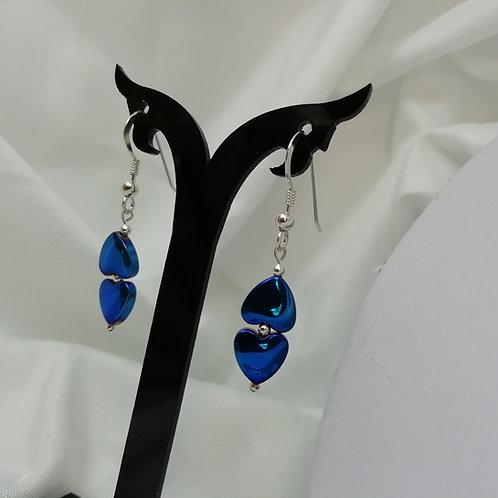 Hematite & Silver Earrings