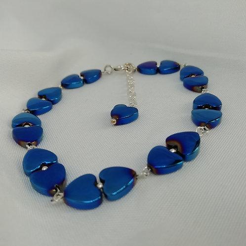Hematite & Silver Bracelet