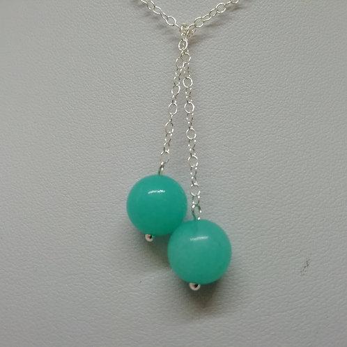 Gemstone & Silver Lariat