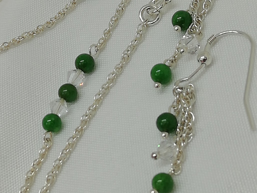 Handmade Simple green onyx beads bracelets