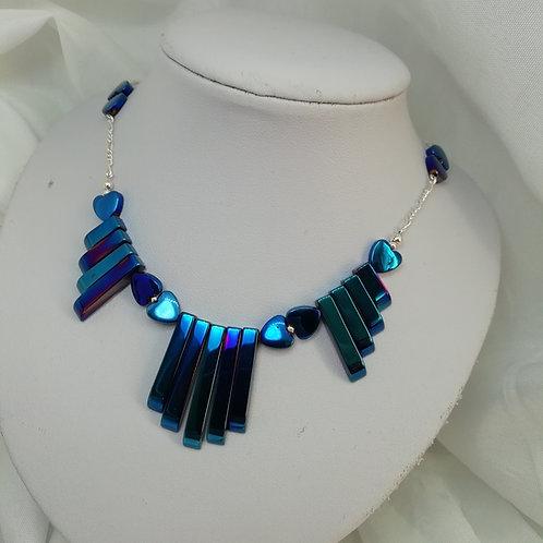 Hematite & Silver Necklace