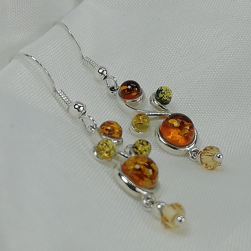 Multi-colour Amber Earrings