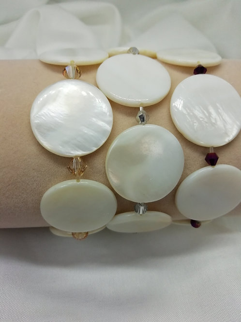 Mother of Pearl 'Button' Bracelet