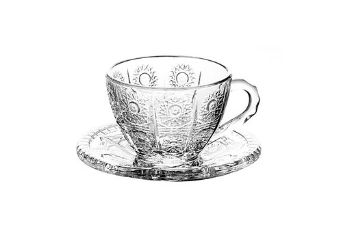 Чашка с блюдцем «Хрустальное солнце», 200 мл