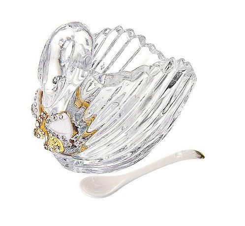 Вазочка с ложкой «Лебедь –бант»