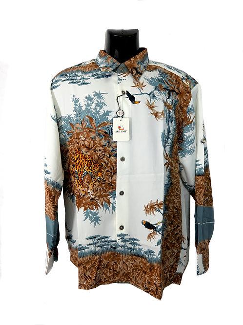 Men's Fashion Shirt with Safari Illustrations