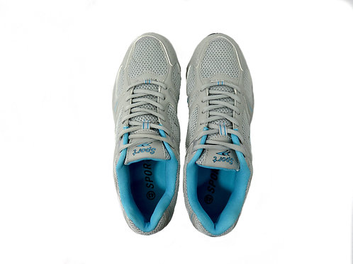 Men's Sport Runners/Joggers in White and Blue
