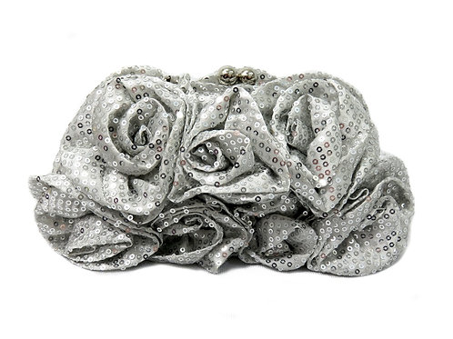 Women's Soft Roses Clutch with Sequins