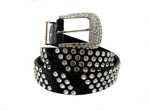 Women's Sparkle Belt in Crisscross Diamante Pattern