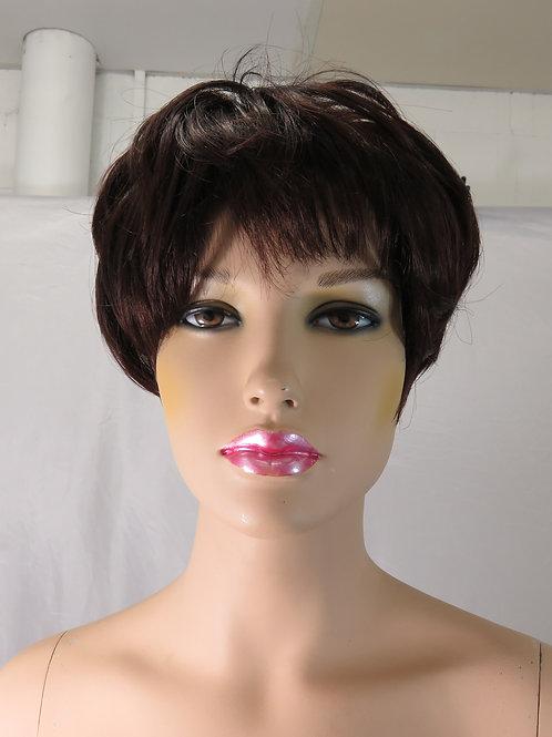 Ladies Short Wig in Dark Burgundy