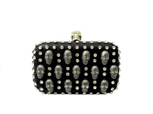 Women's Fashion Wallet/Clutch with Diamante Skull Pattern