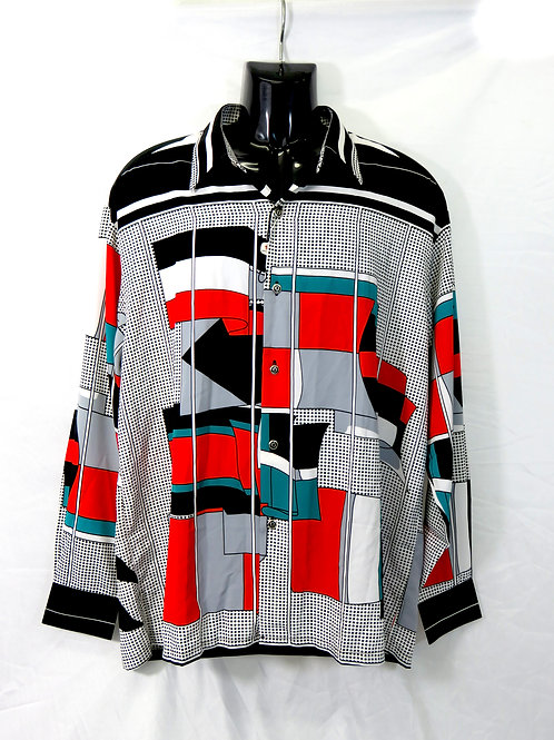 Men's Fashion Shirt in Artistic Pattern
