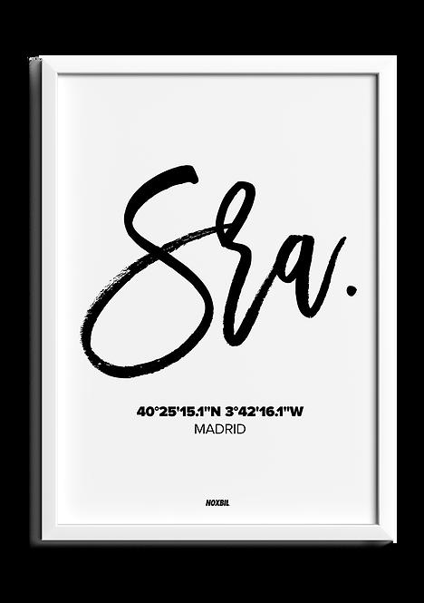 SRA. (Personalizable)
