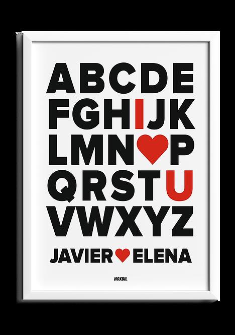 ABC LOVE (Personalizable)