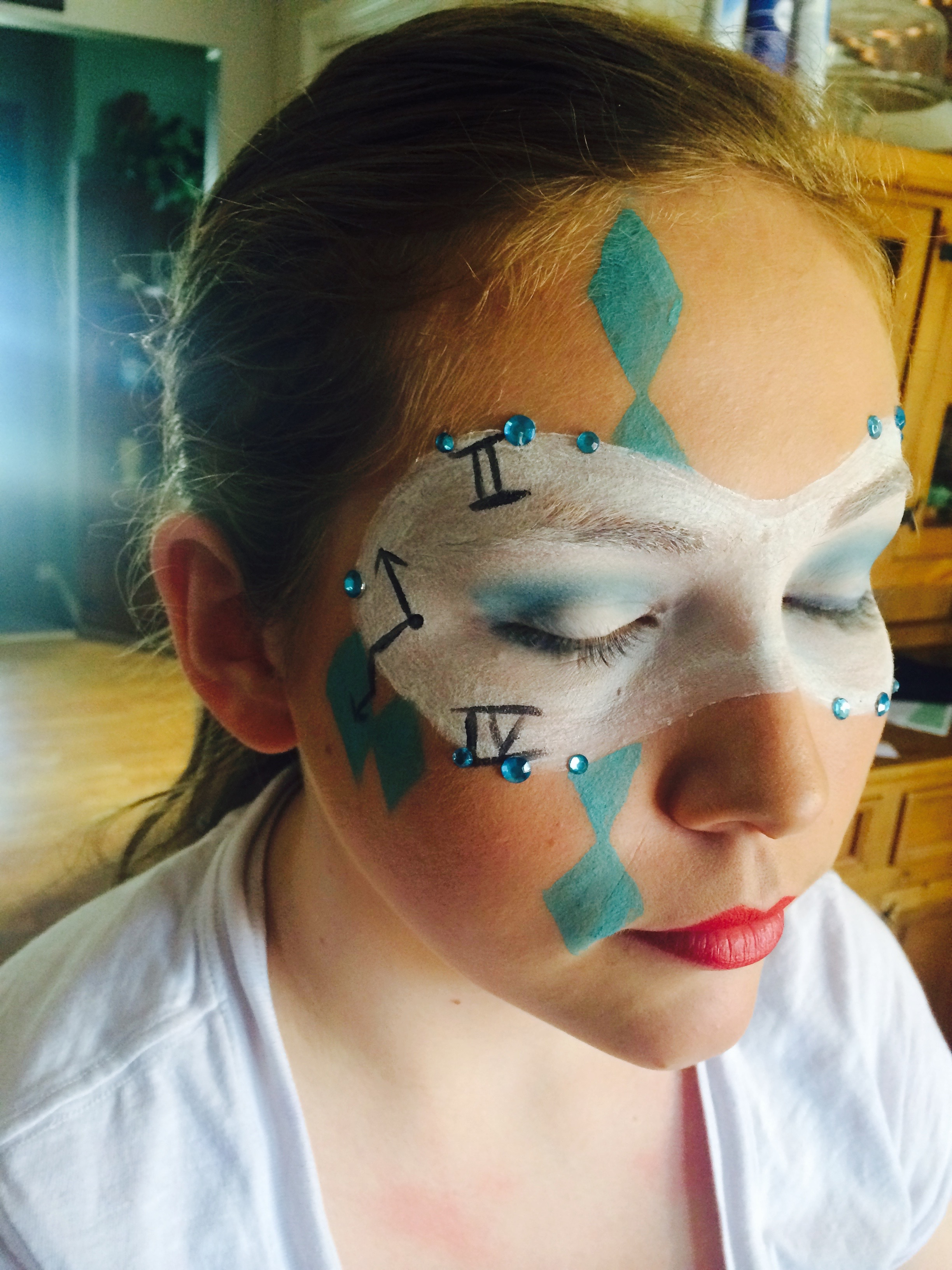 Alice in Wonderland Makeup FacePaint