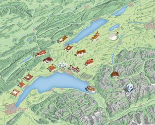 otv carte office tourisme vaud switzerland lac léman Geneva lake