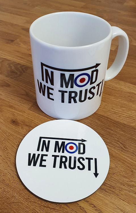 In MOD We Trust! Mug & Coaster Set (V2) - Perfect for that Mod in your life