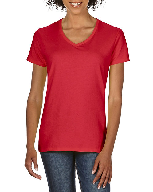 WOMEN'S V-NECK FITTED PREMIUM T-SHIRT