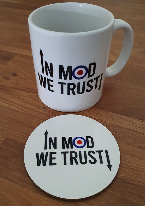 In MOD We Trust! Mug & Coaster Set (V1) - Perfect for that Mod in your life