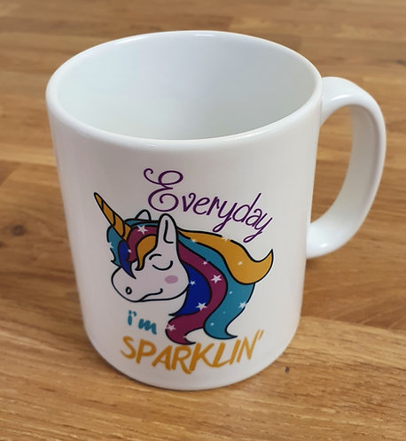 Everyday I'm Sparklin' Fabulous Unicorn Mug