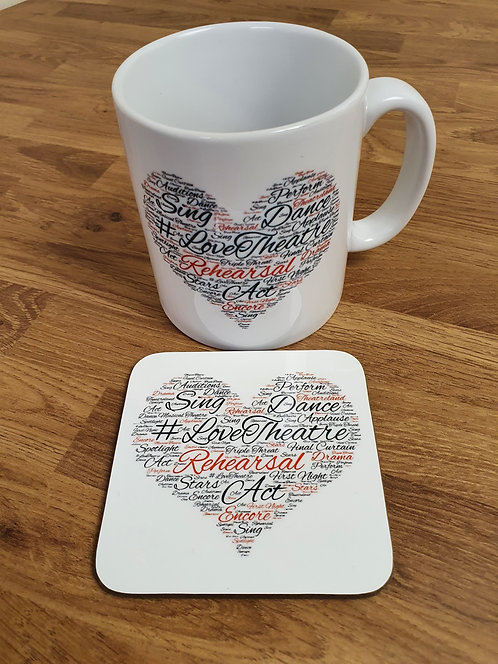 Love Theatre Mug & Coaster Set