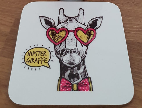 Hipster Giraffe Coaster - Could you be any cooler?