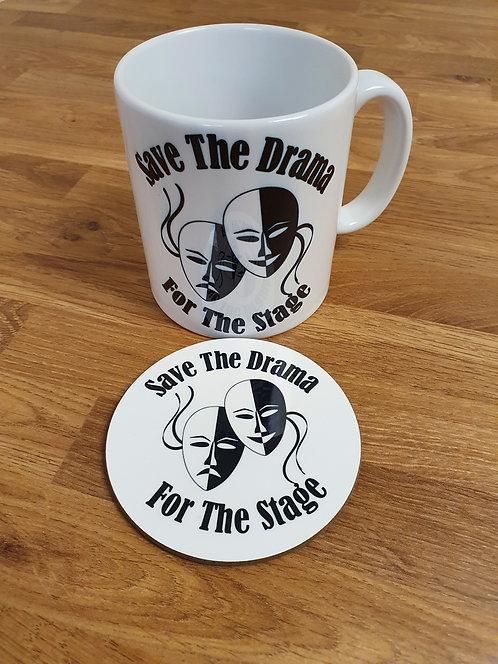 Save The Drama Mug & Coaster Set