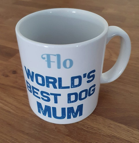 Personalised Best Dog Mum Mug