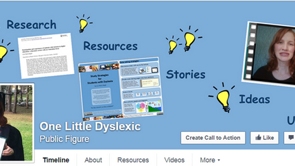 One Little Dyslexic now on FaceBook