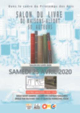 affiche - salon du livre de Maisons Alfo