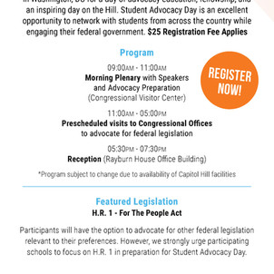 CRISP Student Advocacy Day on the Hill!
