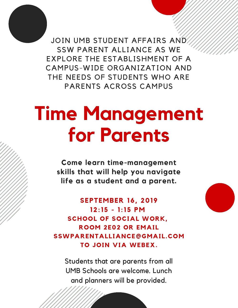 time management flyer