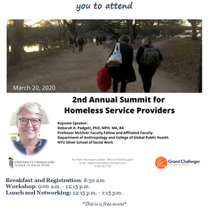 2nd Annual Homelessness Summit March 20 @ the SSW