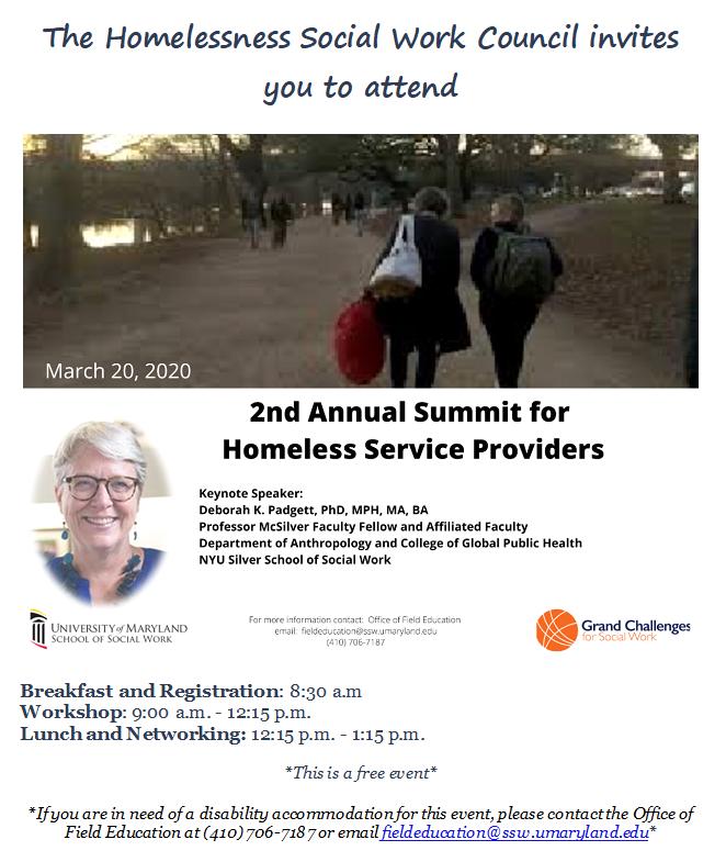 homeless summit flyer