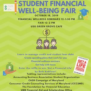 USG News: Student Financial Well-being Fair @ USG October 18