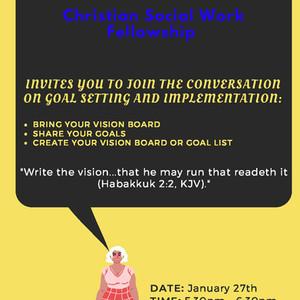 Upcoming Meeting: Christian Social Work Fellowship - January 27