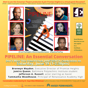 The-School-To-Prison Pipeline: Get Free Tickets for 6/19 & Discounted Everyman Theatre Tickets