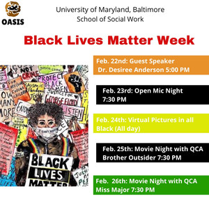 Virtual Photo Campaign and Open Mic Night Sign-Up for OASIS Black Lives Matter Week!