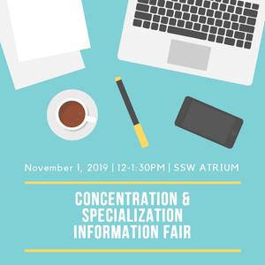 Drop by the Concentration and Specialization Info Fair This Friday (11/1)