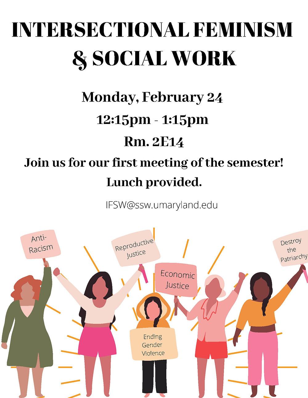 feminist meeting flyer