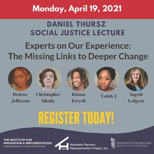 Spring Thursz Social Justice Lecture, April 19